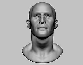 Base Male Head v3 3D model