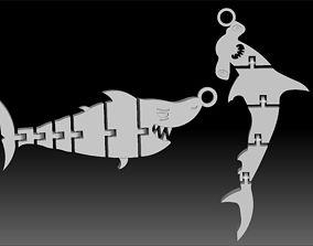 3D asset Flexi Hammerhead Shark - Articulated Alnimal