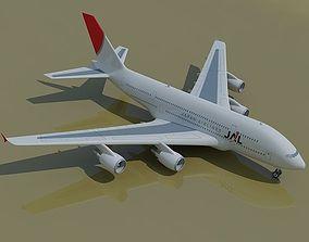 3D Japan Airlines JAL