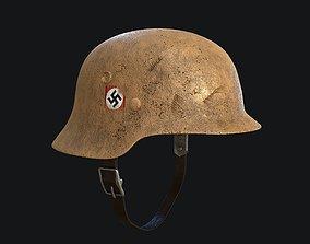 3D model realtime WW2 German Army Helmet Desert PBR