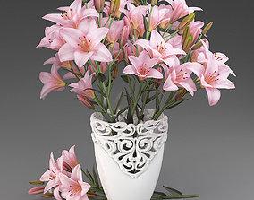 Bouquet of lilies-6 3D model