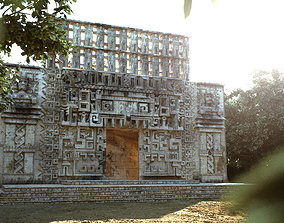 Mayan Building Hochob Low Poly PBR 3D model
