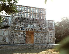3D model Mayan Building Hochob Low Poly PBR