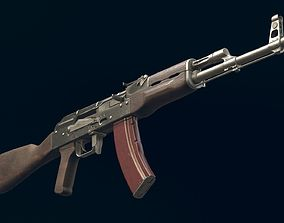 3D model AK-47 Automatic Rifle equipped with GL25 and
