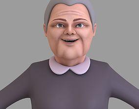 3D model Cartoon Grand Mother