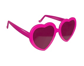 3D model PBR Heart shaped sun glasses