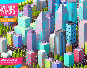 Low Poly City Pack 3 3D model