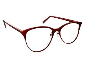 3D PBR Glasses rim