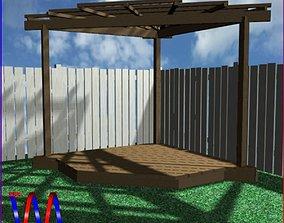 Pergola10 Corner Freestanding 3D model