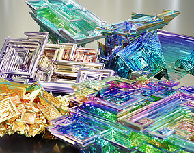 facet Bismuth Crystals 3D
