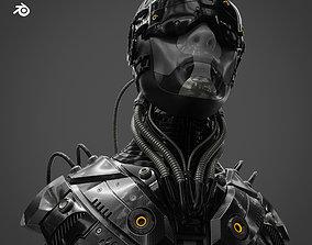 3D Sci Fi - Character - Head technology