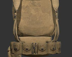 World War 2 American Soldier Backpack 3D model
