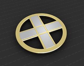 3D printable model pendant silver Cross Medallion