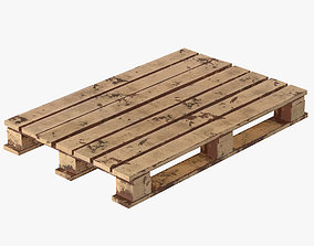 3D wooden pallet dirty