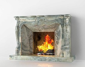 Classic Marble Fireplace 01 3D