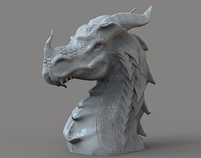 art 3D print model Dragon Bust