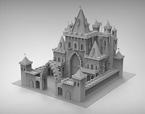 3D model Castle roof