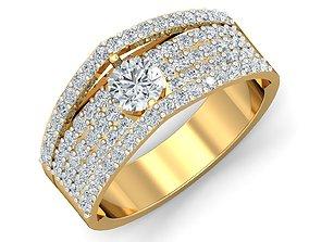 Women cocktail ring 3dm stl render detail gemstone