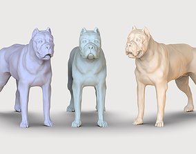 three dog breed Canne Corso 3D printable model