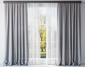Curtains and tulle 3D