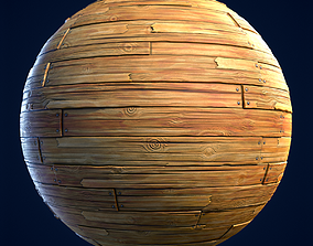 Wood Boards Stylized Hand Painted Textures 3D model