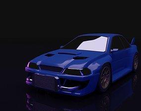 3D asset Subaru Impreza WRX STI 22B