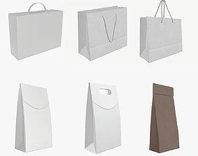 3D model PBR paper bags