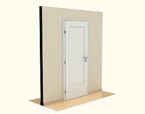 Wooden Door window 3D model