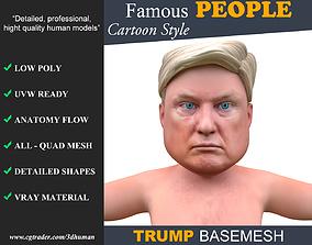3D asset Low poly Character Cartoon Basemesh - Donald 1