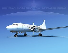 Convair CV-580 Unmarked cargo 3D model