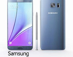 3D black Samsung Galaxy Note 5 Black Sapphire