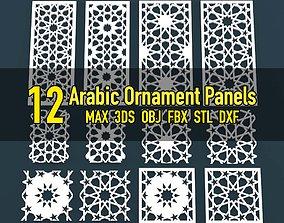 3D asset Collection of Arabic ornament panels