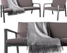 Park Life club armchair set by Jasper Morrison 3D model