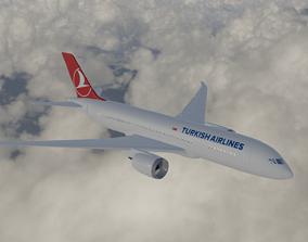 3D asset Boeing 787 Turkish Airlines
