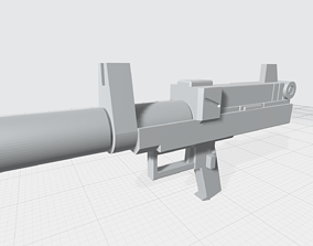 3D printable model MHW01-3-GM Assault Beam pistol with 1