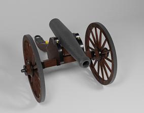 3D model The Gettysburg Civil War Cannon