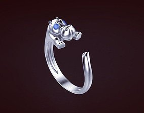 gold gem Ring 3D print model