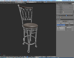 3D model Blake Barstool