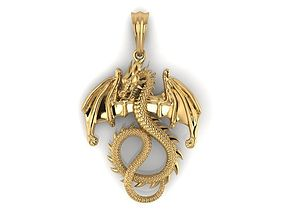 3D print model Dragon wing pendant