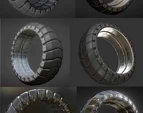 3D asset Futuristic Tire Collection