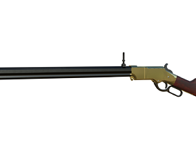 3D model rigged Henry Rifle 1860