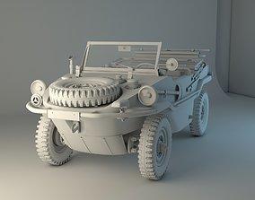 3D Volkswagen type 166 Schwimmwagen