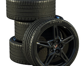 Chevrolet Corvette C8 2020 wheels 3D model