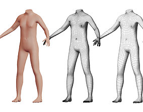 3D Character 47 High and Low-poly - Body male