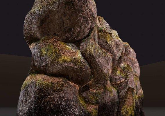 Fantasy Rock Wall 3D model