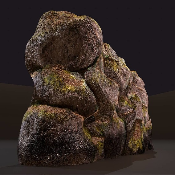 Fantasy Rock Wall 3D model