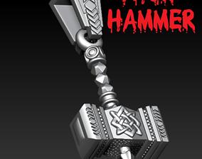 Thor Hammer pendant 3D printable model captainamerica