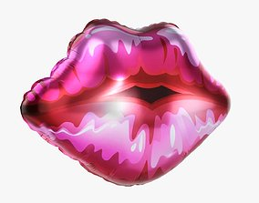 Foil balloon lips 3D model