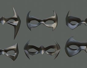 3D printable model 6 Batman sidekicks eye masks