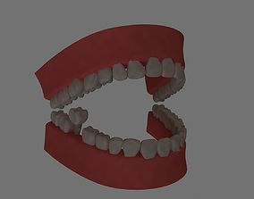 teeth 3d modl low poly realtime science